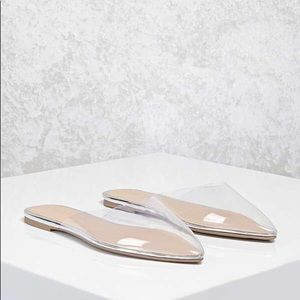 Forever 21 Clear Pointed Flats